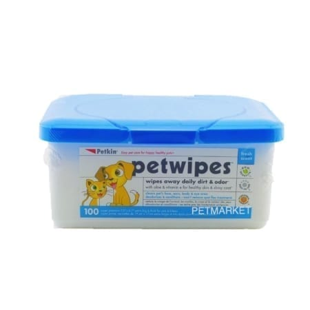 Petwipes 超厚身乾洗濕紙巾 (100片)